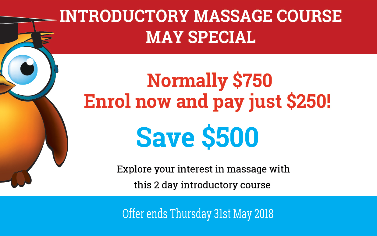Introductory Massage  2 Day Course - Super Special On Now!